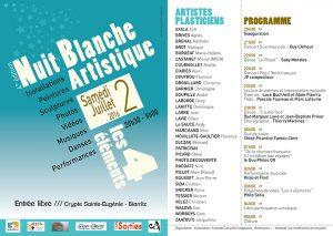 Nuit Blanche Artistique à Biarritz